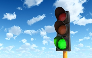 Green means stop.