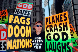 Probably because you're a member of Westboro Baptist Church.