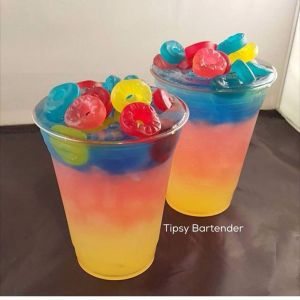 """""""It's Sunkist, strawberry Kool-Aid, blue Curaçao, champagne, and gummy Lifesavers. You're stupid if you don't like this."""""""